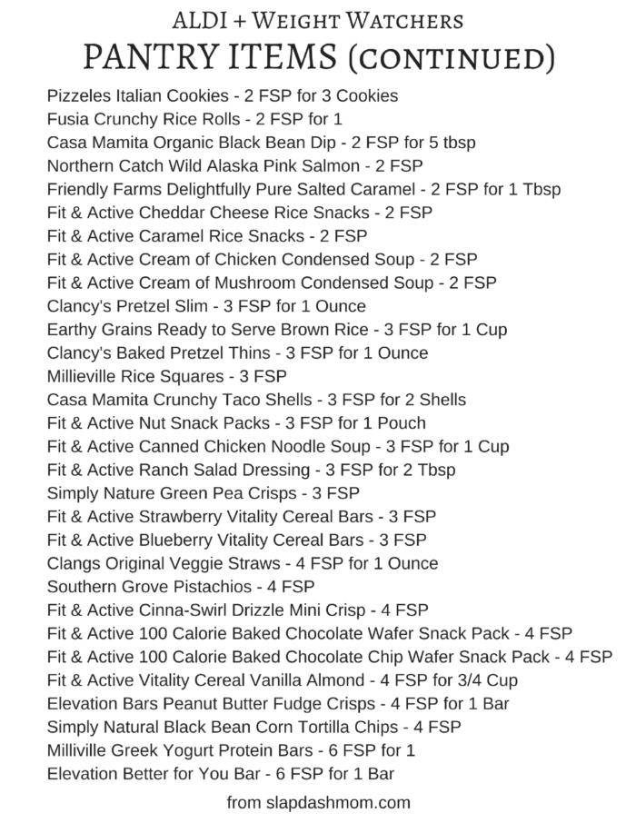 Weight Watchers Friendly ALDI Shopping List | Slap Dash Mom
