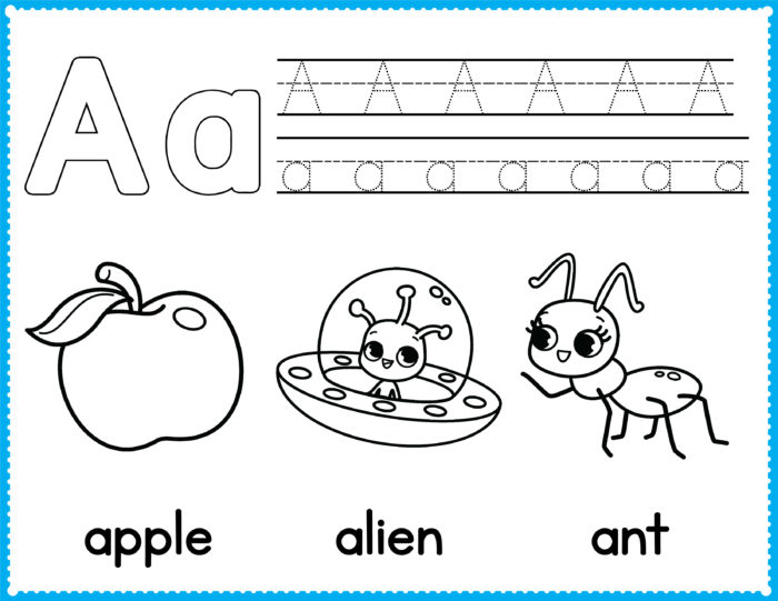 Free Alphabet Coloring Pages - Preschool Printables | Slap ...