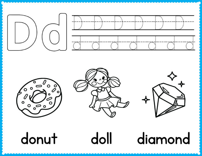 Free Alphabet Coloring Pages - Preschool Printables
