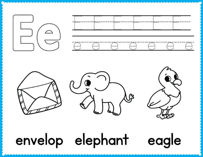 Free Alphabet Coloring Pages - Preschool Printables