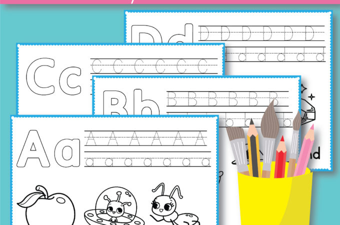 Free Alphabet Coloring Pages – Preschool Printables