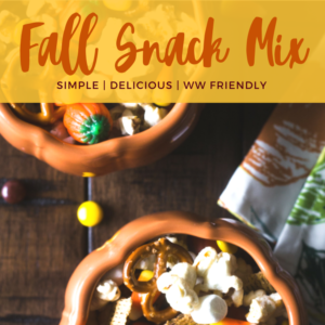 Fall snack mix is perfect touch of sweet and salty wrapped into one! So delicious that the kids will love it too! Feel free to switch up the snack mix with your own ideas to make variations! #fall #fallsnackmix #snacks #kidsnacks #healthysnacks #halloween #partyfood #partysnack