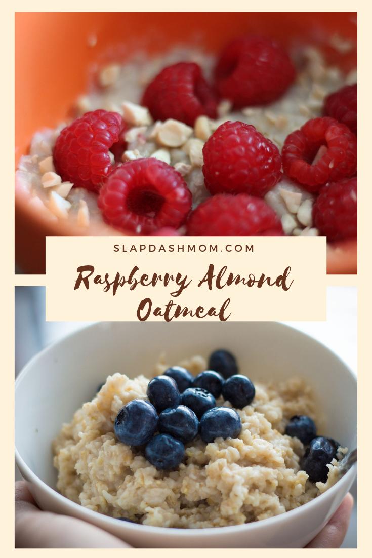 Raspberry Almond Oatmeal