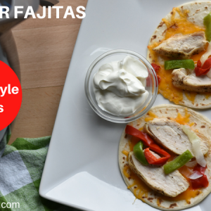 weight watchers chicken fajitas