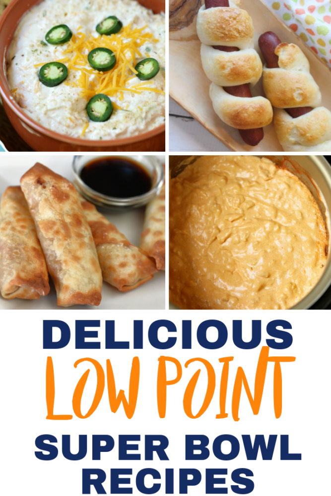 The BEST list of Weight Watchers Super Bowl recipes! All kinds of game day food from dips and appetizers to chili and desserts! This list has awesome snack idea and most are low in points! #gameday #superbowl #weightwatchers