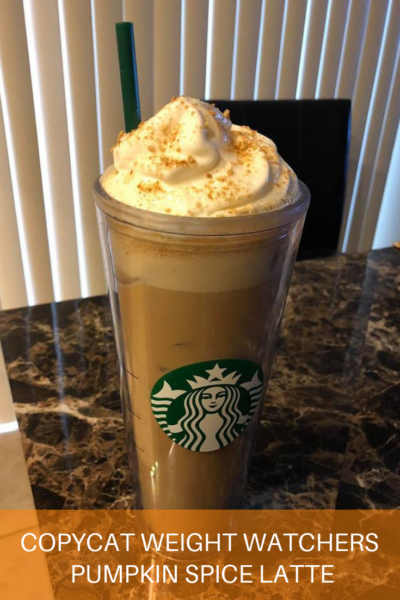 COPYCAT Weight Watchers Pumpkin Spice Latte