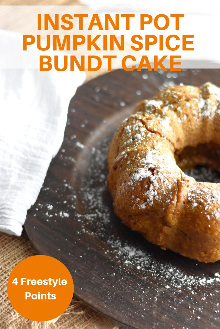 Instant Pot Pumpkin Spice Bundt Cake