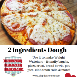 Two Ingredients Pizza Dough - Just 3 WW Points