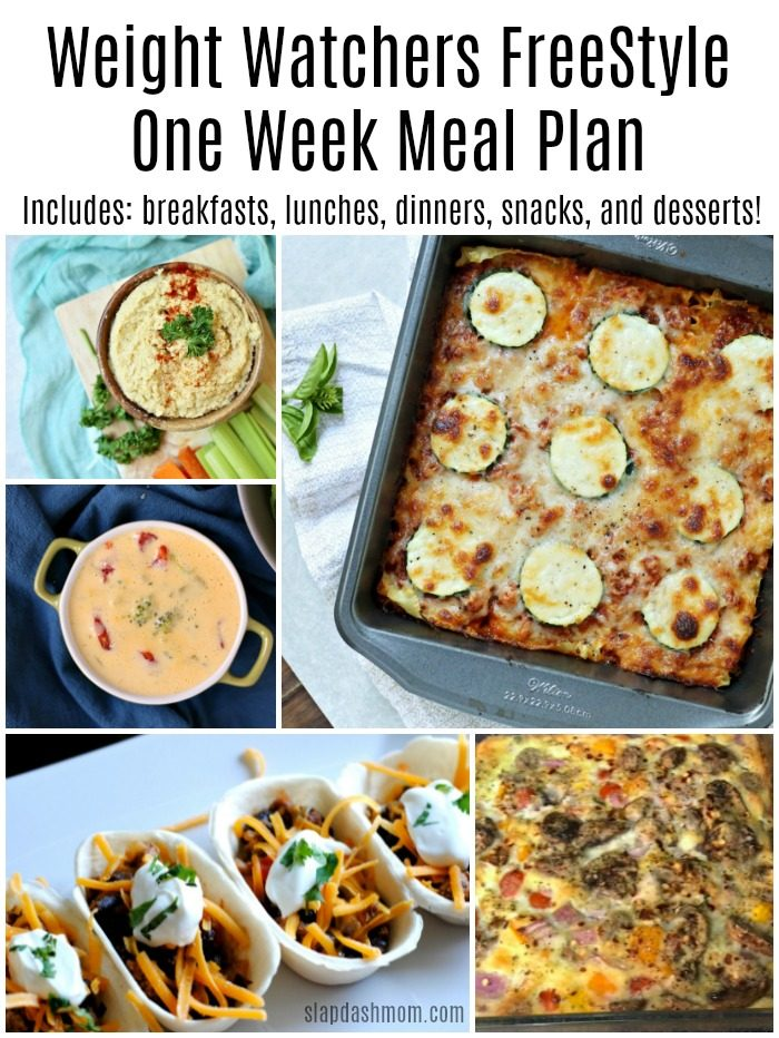 Weight Watchers FreeStyle One Week Meal Plan