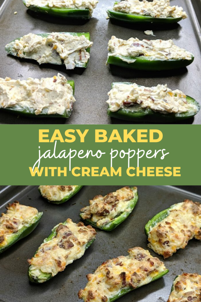 The perfect game day appetizer or light dinner, these chicken stuffed jalapeno peppers are delicious and flavorful! Easy to make and baked to perfection with leave your crowd wanting more! Weight Watchers friendly too! #appetizer #gamedaysnack #healthysnack