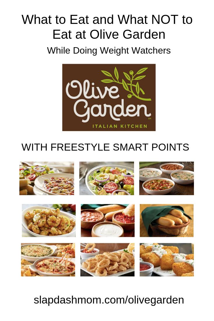 Weight Watchers Olive Garden Guide