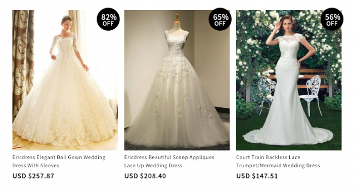 clearance plus size wedding dresses