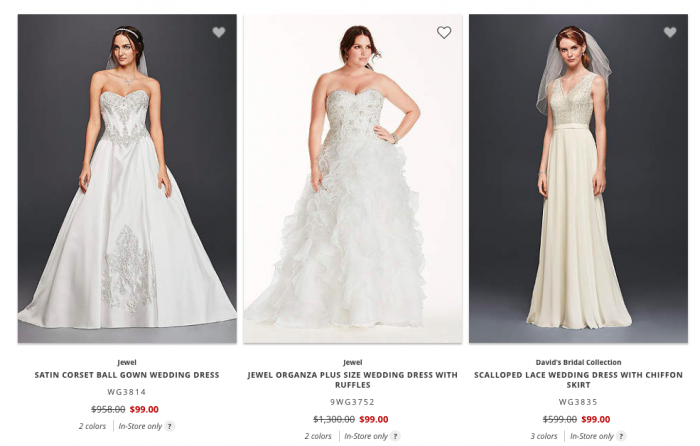 davids bridal clearance dresses