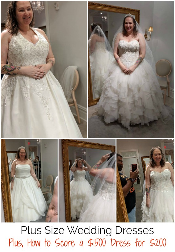 plus size wedding dresses on a budget