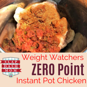 Running low on Weight Watcher points or just want a REALLY easy Instant Pot Chicken Recipe? Try this Simple Instant Pot Chicken! Simple ingredient list, mild or spicy, and the lime flavor is absolutely refreshing! ZERO POINTS if you are on the WW Freestyle Plan! #ww #WeightWatchers #instantpot #InstantPotRecipes