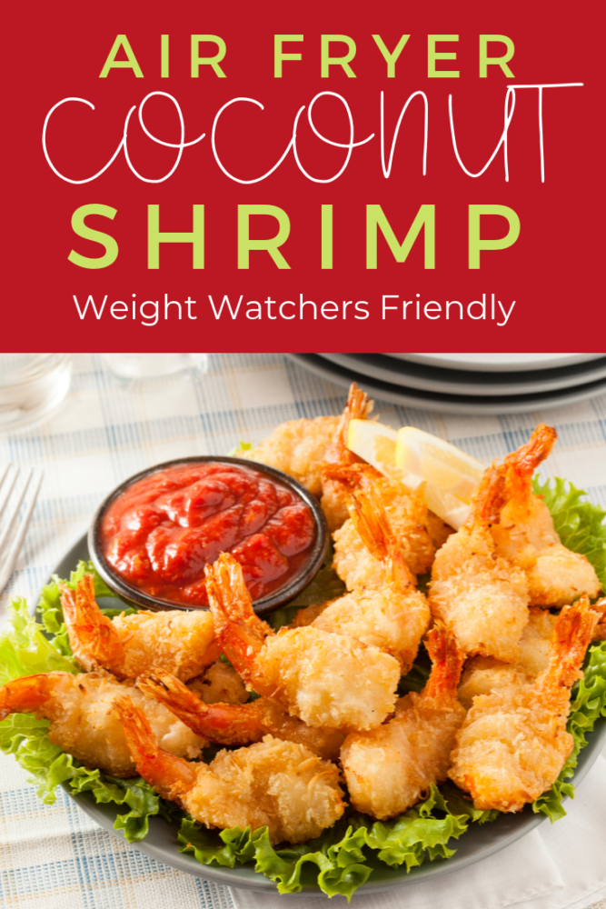 You have to try this healthy air fryer coconut shrimp! Not only can you skip the deep frying process, but you can be healthy and have a delicious meal in the matter of just a few minutes! Great family dinner option for any night of the week! Weight Watchers friendly! #weightwatchers #airfryerrecipes #shrimp #seafood