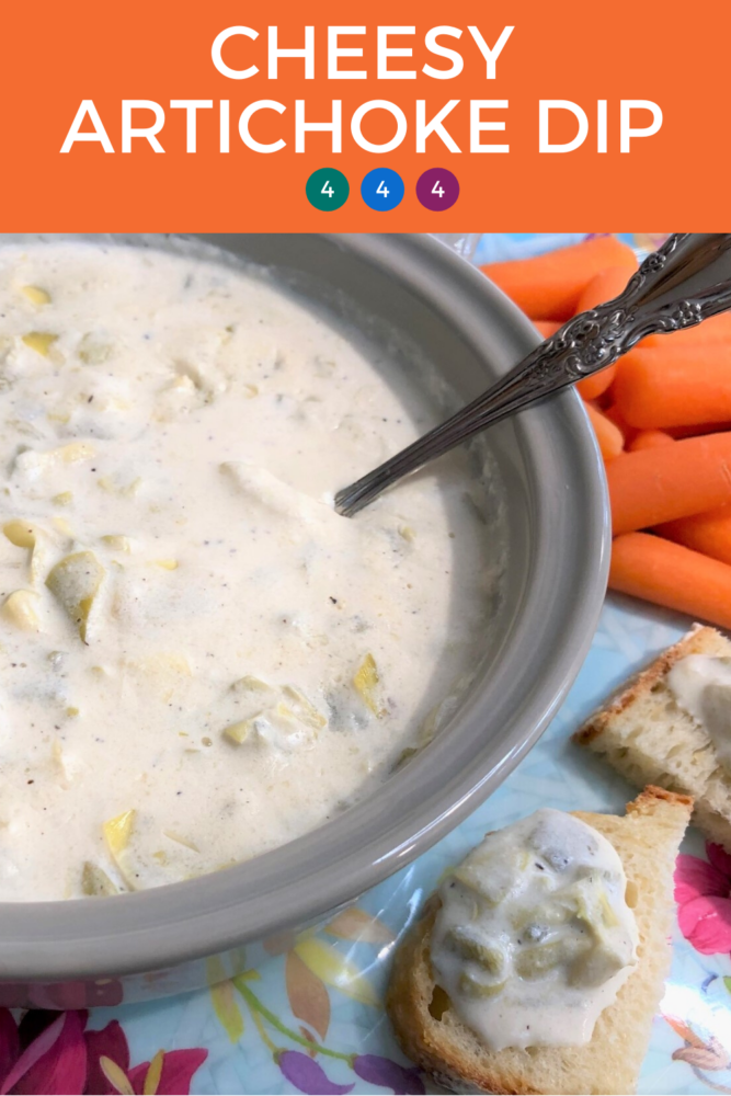 This cheesy artichoke dip can be made on the stovetop or in the crockpot so it will stay warm throughout your get together! With the simple ingredient list, it's the perfect snack for weekends too!