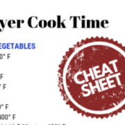 Air Fryer Cook Time Cheat Sheet