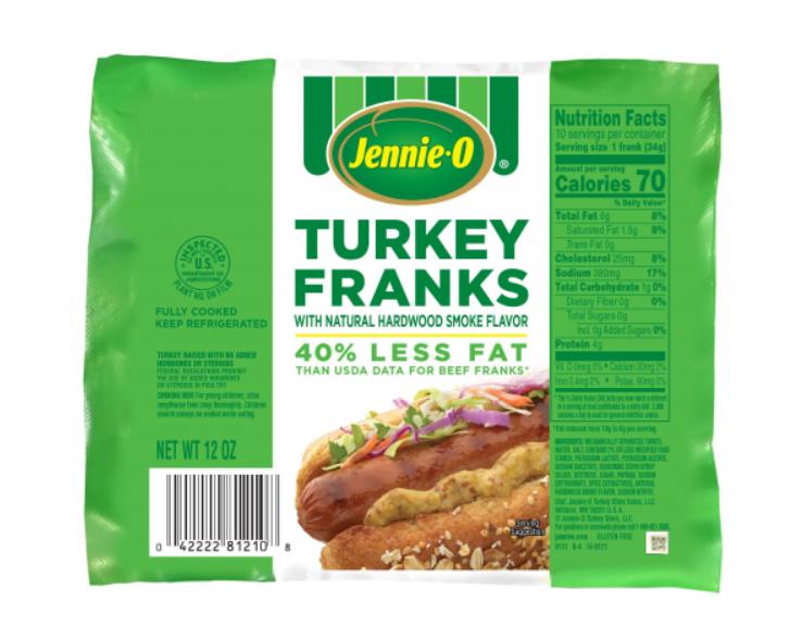Turkey Franks Dinner - 2 WW Points