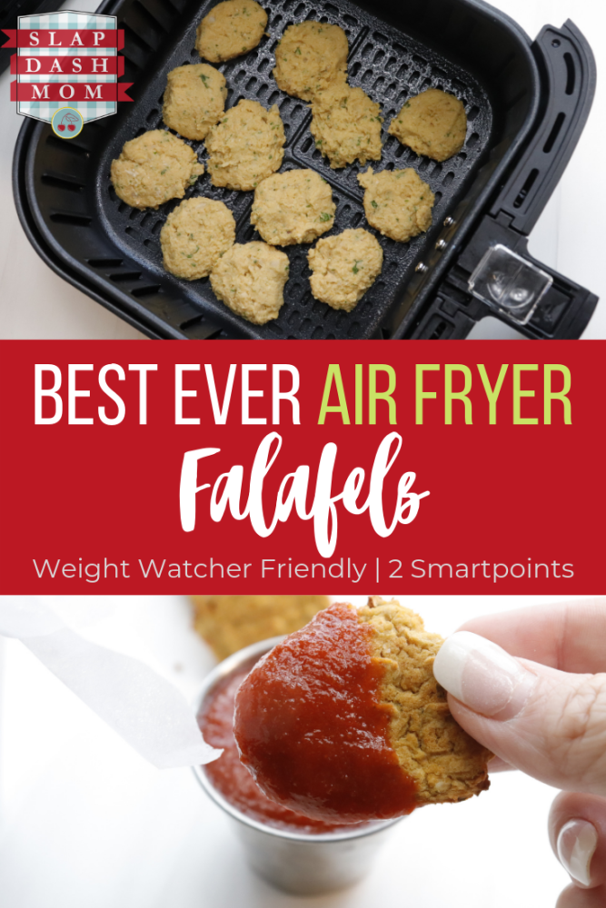 Learn how to make falafels in the air fryer! They are crispy, healthy, and lifestyle friendly including vegan, vegetarian, and Weight Watchers! If you are on WW these air fryer falafels are ONLY 2 points per serving! #weightwatchers#vegan#airfryerrecipes#wwfreestyle