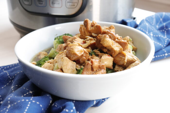 IP Teriyaki Chicken in a white bowl