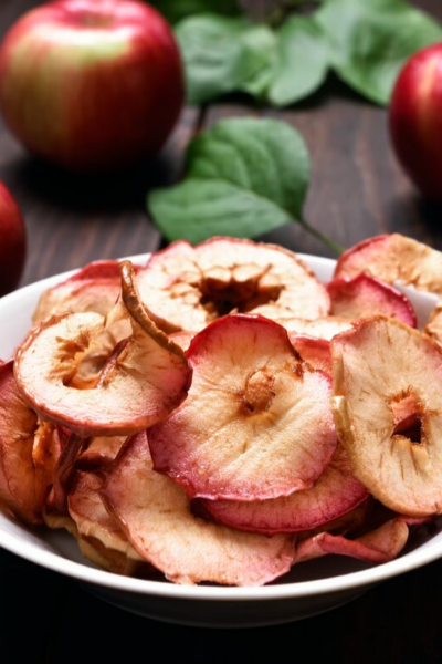 apple chips next to whole apples