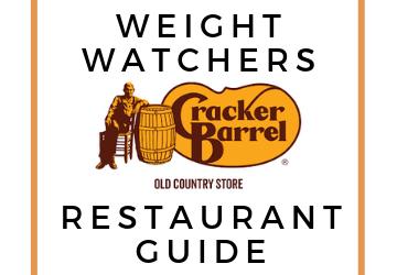 Cracker Barrel Weight Watchers points guide