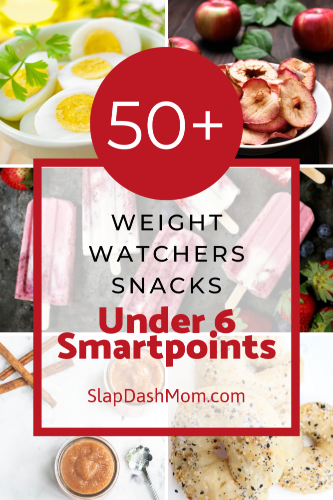 Over 50 Weight Watchers Snacks that are perfect for any craving! All of these Weight Watchers Snacks are under 6 Smartpoints so you don't have to worry about going over! #ww #weighwatchers #instantpotrecipes #airfryerrecipes #healthysnacks #snacks #easytomake