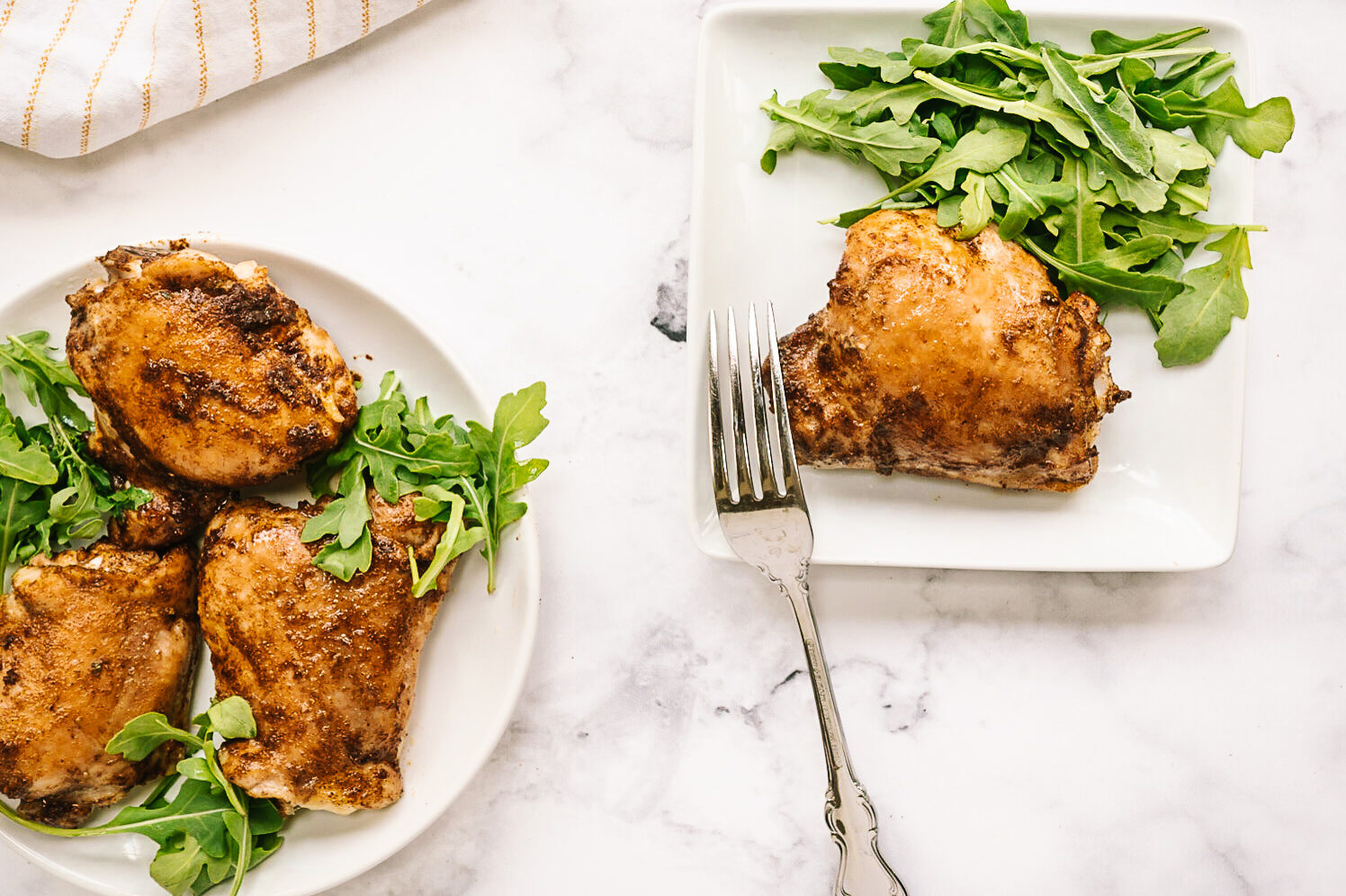 air fryer fried chicken with salad