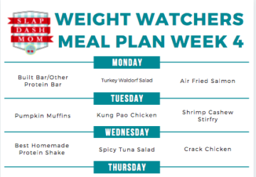 weight watchers meal plan download