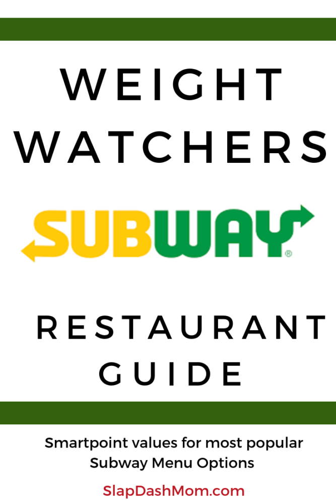 This Subway Weight Watchers point guide will be sure to keep you on track at your next visit! YOU HAVE TO SEE what some of the sandwiches are! #weightwatchers #restaurantguide #ww #smartpoints