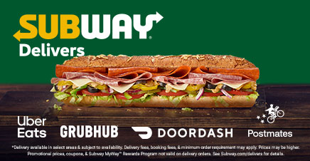 Subway advertisement with sandwich