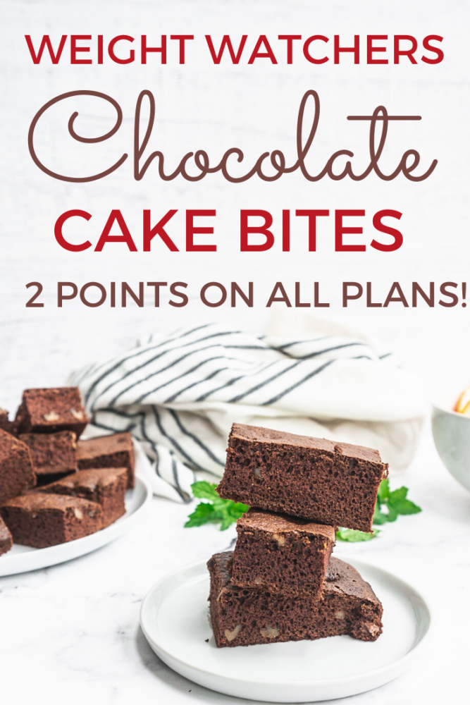 You have to try these Weight Watchers Chocolate Cake Bites for only 2 points on all three new plans! Delicious and chocolately perfect for a weeknight treat or holiday dessert!