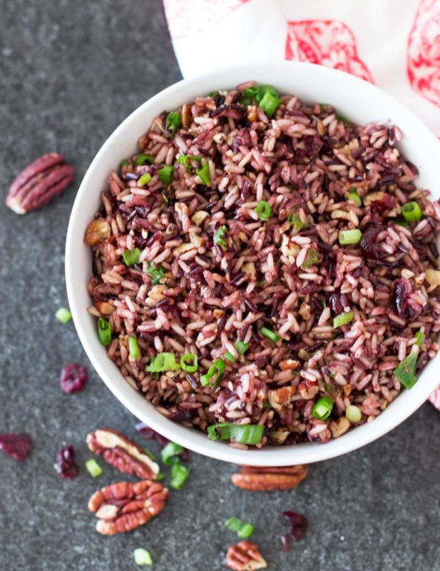 instant pot thanksgiving cranberry wild rice