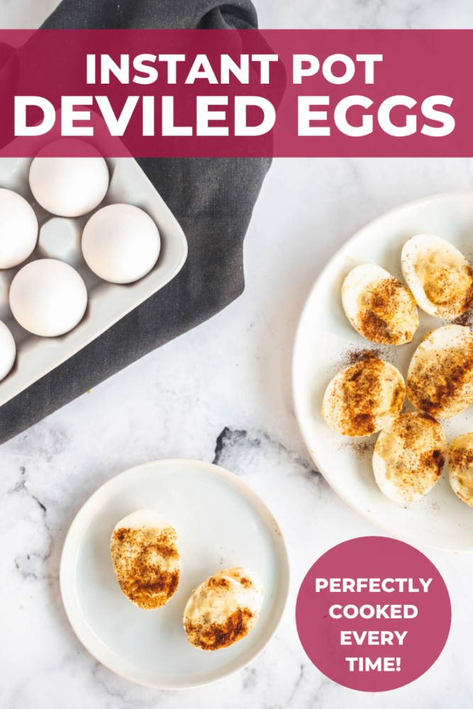 Instant Pot Deviled Eggs are delicious and sweet from the sweet pickle relish. Easy to make and ready in less than 30 minutes! Be sure to watch the recipe video to see how to make deviled eggs with relish! #instantpot #eggs #deviledeggs