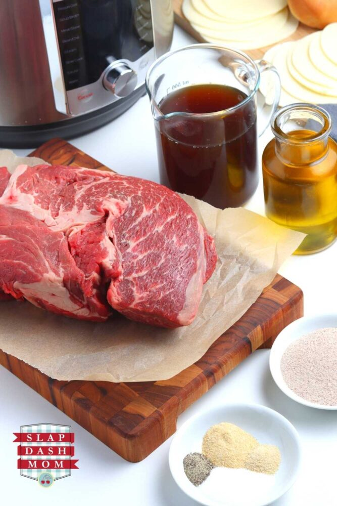 ingredients for instant pot french dip